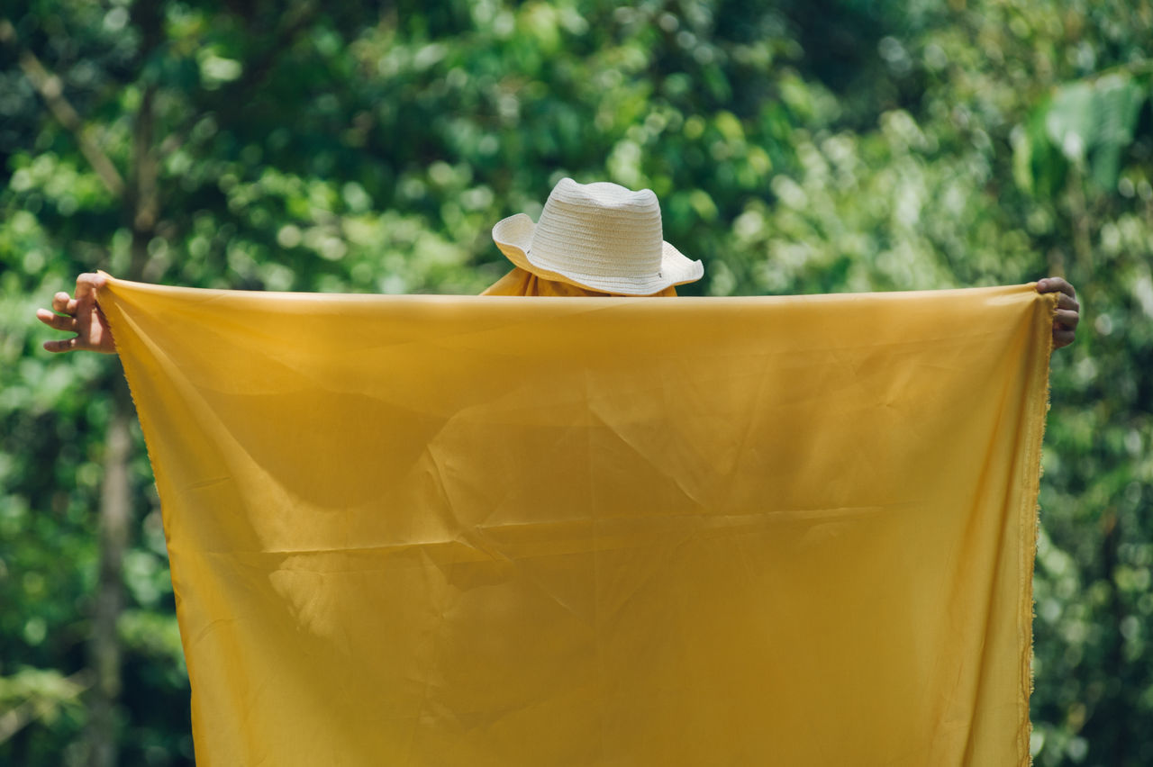 Close-up Cloth Day Focus On Foreground Golden Growth Hat Man Nature Outdoors The Portraitist - 2017 EyeEm Awards Tree