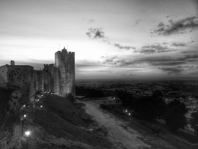 Architecture Built Structure Sky Building Exterior Cloud - Sky City Cityscape Illuminated Tower Cloud Outdoors The Past Scenics Tranquility History Cloudy Nature Wide Shot Tranquil Scene Horizon Over Land TakeoverContrast Monochrome Photography Overnight Success End Of The Day Castle