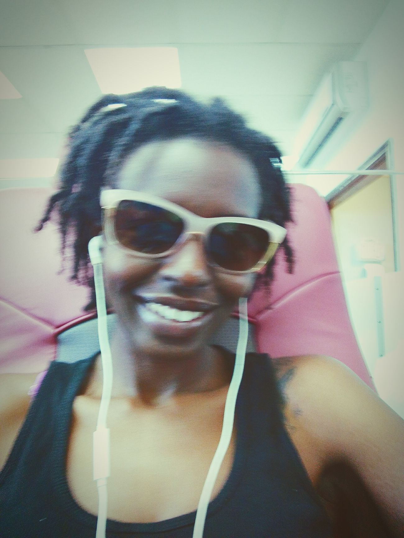 Pampering in full effect.... Hands and Feet Spa Day  Enjoying Life Selfie ✌ Cheese! Myblackisbeautiful Natural Hair Dreadhead Pandora Flow Massagechair Foot Massage Florida Life Ft Lauderdale Lesbian