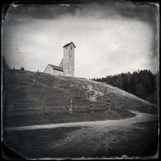 The church over the hill Blackandwhite Hipstamatic The_guido