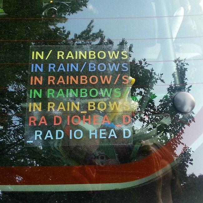 Rearwindowsticker Radioheadmobile Radioheadmadness Inrainbows jewelcase sticker thomyorkeiloveyou thomyorke