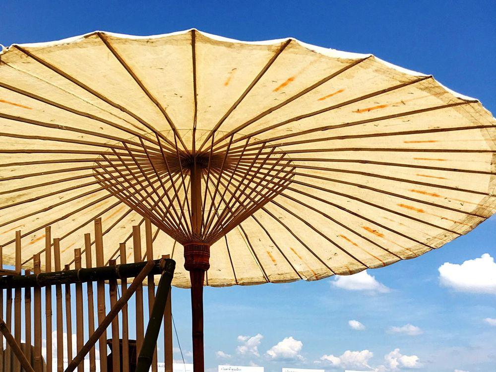 Umberella Umbrella Sky Summer Umbrella Umbrellas Umbrella☂☂ Summer Views Low Angle View Protection Sky Shelter Outdoors Day Blue Cloud - Sky No People Nature Close-up