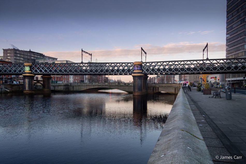 North to south Dublin, Ireland Liffey Bridge Winter Morning Sunrise_sunsets_aroundworld