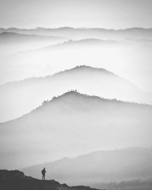 Mountain & Men. Mountain Fog Landscape Dramatic Sky Mountain Range Scenics Outdoors Nature Forest Cloud - Sky Beauty In Nature Mountain And Clouds Adventure Outdoor Life Thetrickytree Theoutdoorfolk Moodygrams Roamnation Folkgreen Livefolkindonesia DiscoverIndonesia Journesia Digitalnomad Doubleexposure Doublelayer