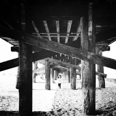 blackandwhite at Seal Beach Municipal Pier by Mare
