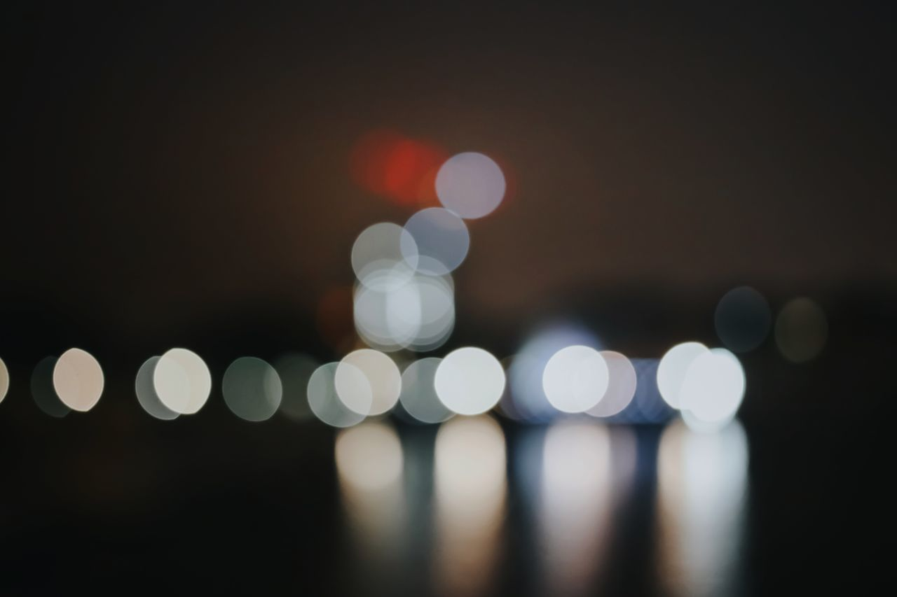 Abstract Blurred Blurred Motion Bokeh City Close-up Colours Defocused Ethereal Futuristic Illuminated Light Effect Lights Night Nightphotography No People Outdoors Red Romantic Sparkle Spotted