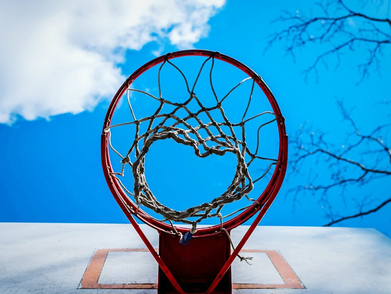 Beautiful stock photos of basketball, Basketball - Sport, Basketball Hoop, Blue, Cloud - Sky