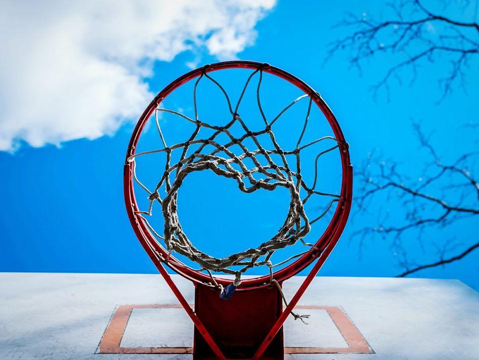 Beautiful stock photos of basketball, Basketball - Sport, Basketball Hoop, Blue, Cloud - Sky