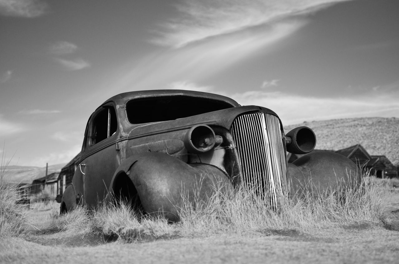 1937 Chevrolet Coupe 1937 Chevrolet Coupe Abandoned Blackandwhite Bodie Bodie State Historic Park Car Chevrolet Coupe Clouds D7000 DSLR EyeEmNewHere Ghosttown Gold Miner Landscape Magic Moments Mining Town Nikon No People Old Perfection Rusty Schwarzweiß Sky