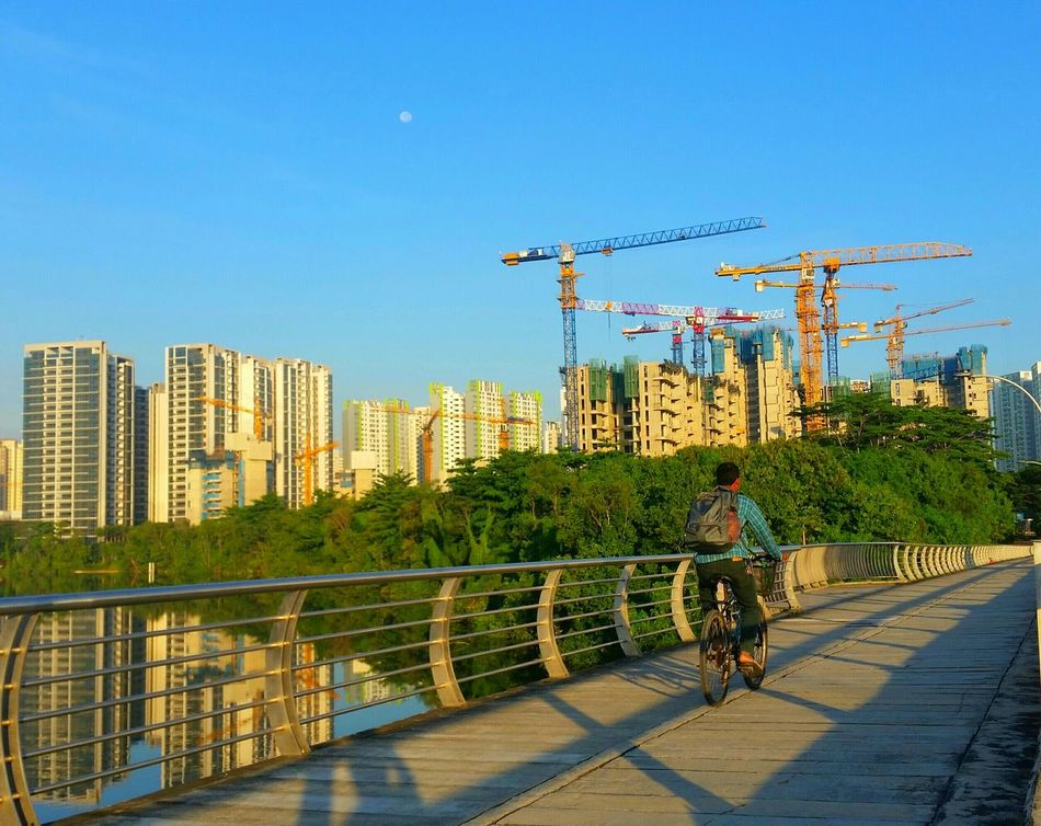 Every morning cycling to work from Compassvale Street Blk 299a