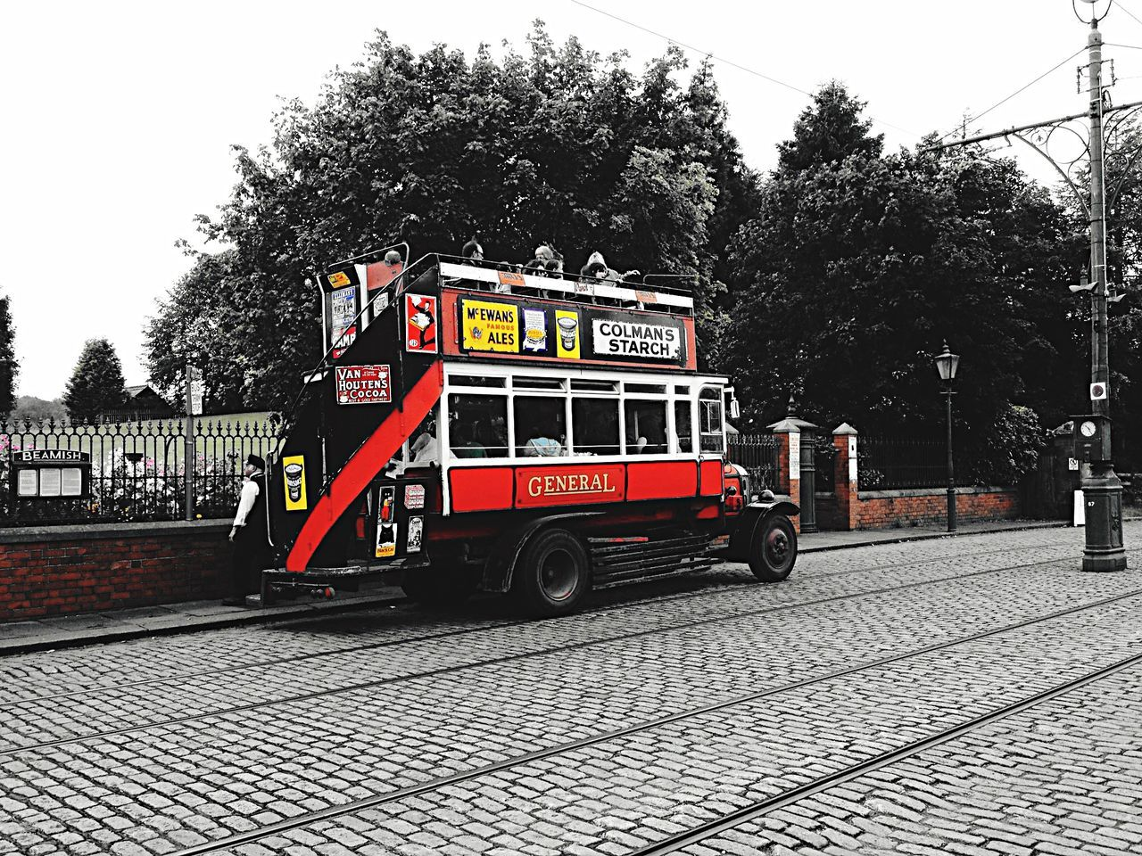The vintage bus at Beamish Museum. Bus City Bus Museum Beamish Museum
