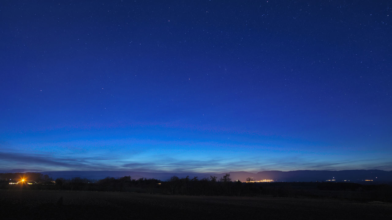 Blue hour - the sun had long-since set but the sky glowed blue as the first stars came out. Beauty In Nature Blue Landscape Nature Night Night Photography Outdoors Perthshire Scotland Scotland 💕 Sky Sky And Clouds Star - Space Stars Sunset Sunset_collection Tranquility