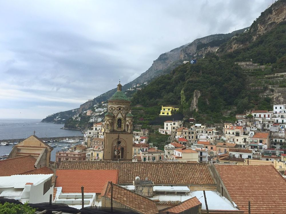 Amalfi Coast Italy Italy Holidays Travelling Landscape View From Above Rooftops Coast Village Resort Seaside Mediterranean  Panoramic View Panoramic Photography Panoramic Landscape Buildings Architecture