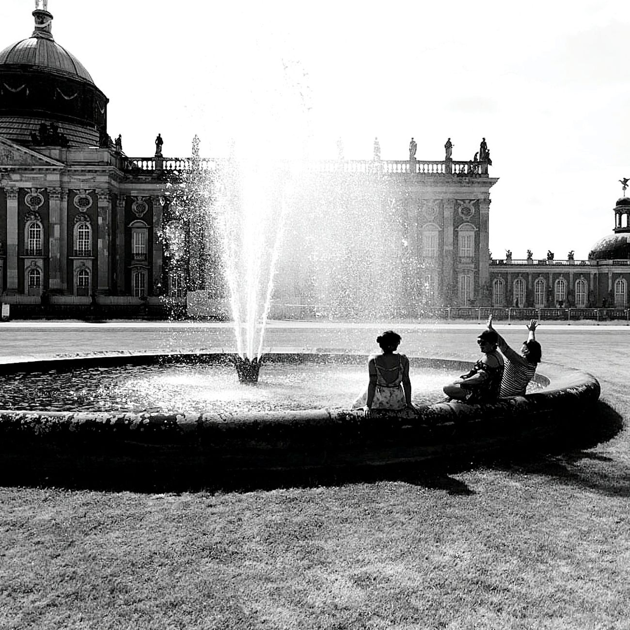Refreshing the feet Potsdam Neues Palais Palace Rococo Prussia Park Fountain