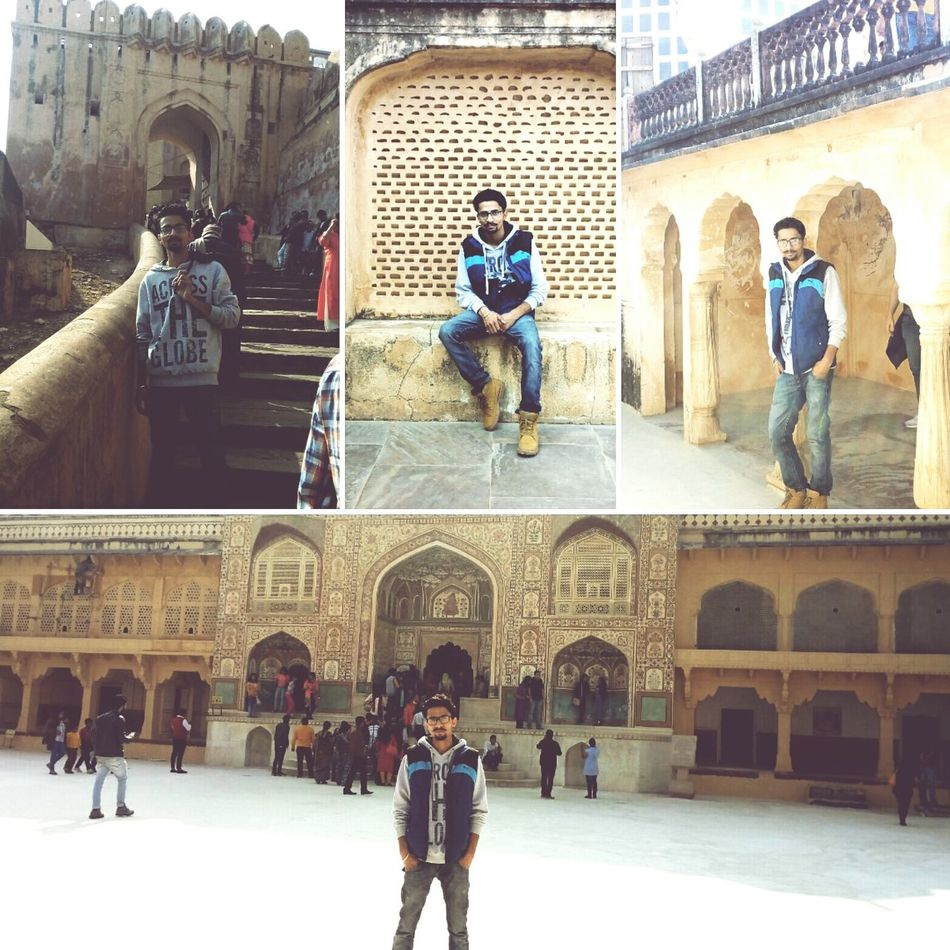 Photography at pink city jaipur.....this is me at amer fort.. Travel Destinations Architecture Outdoors