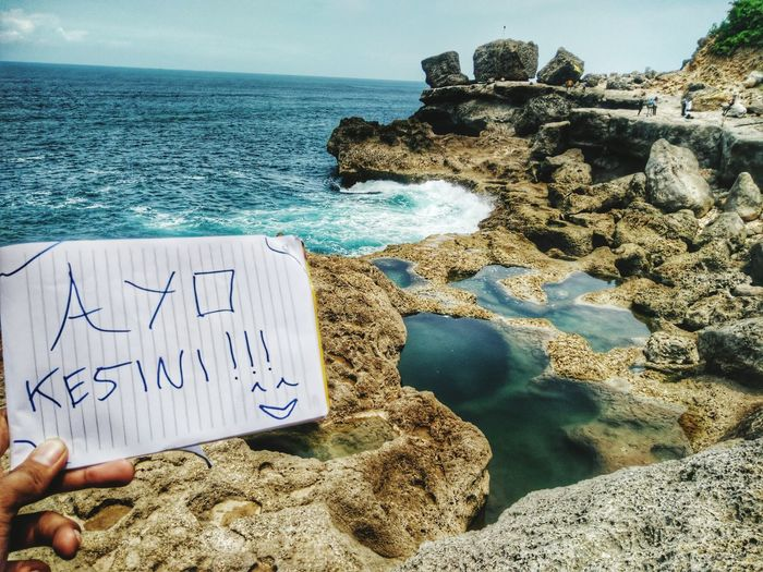 Kedung tumpang namanya 😄😍 Beautiful Sea And Rocks Enjoying Life Dolan Tulungagunghits Jawatimur Indonesian Street (Mobile) Photographie