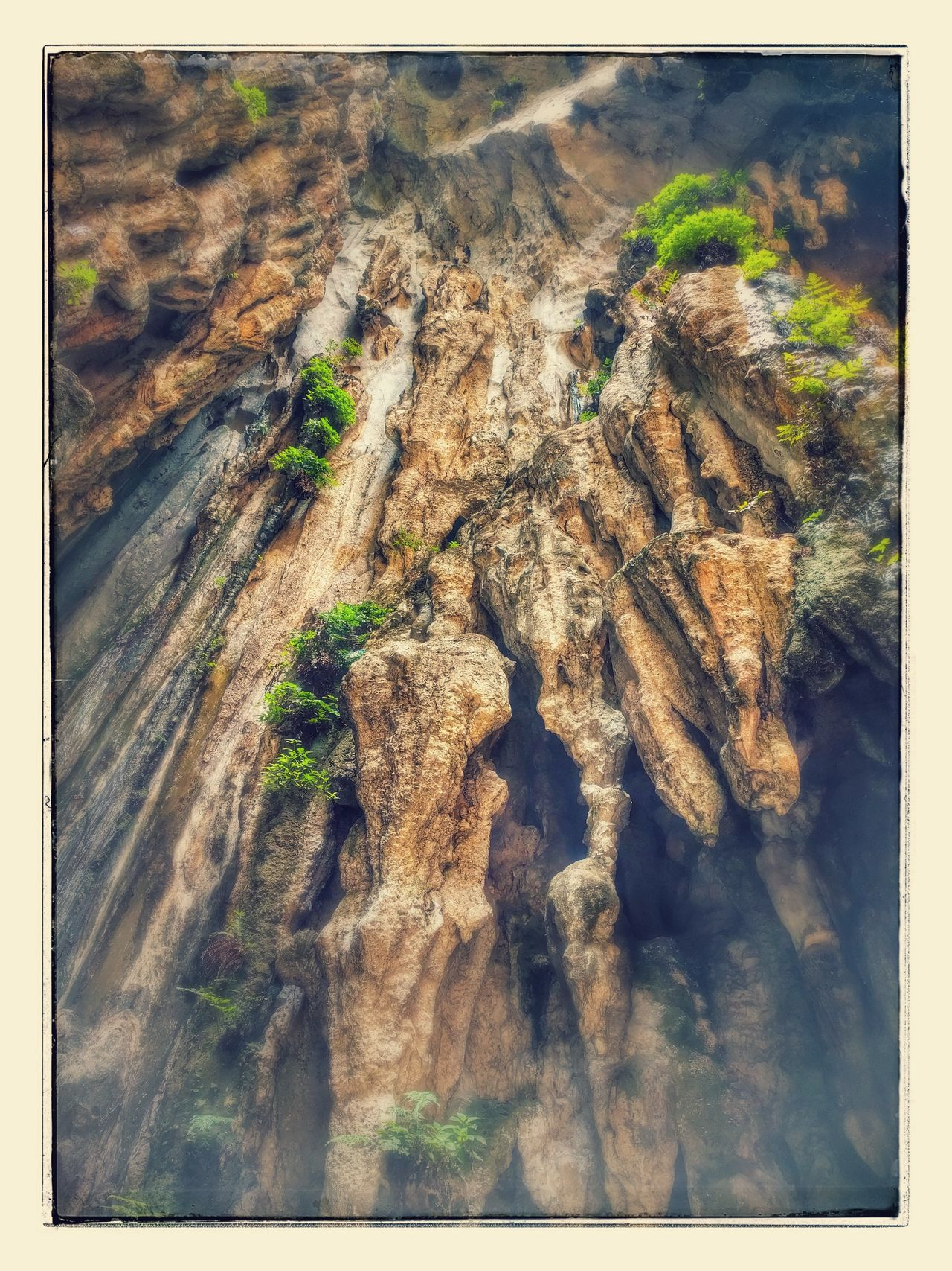 High Angle View Stalactite  Caves Batu Caves -Malaysia