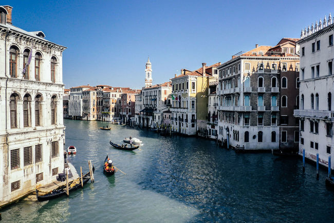 Busy life in the Grand Canal Architecture Boat Building Exterior Built Structure Canal City City Life Day Europe Gondola Mode Of Transport Nautical Vessel Ocean Outdoors Sea Tourism Travel Destinations Venezia Venice Wanderlust Water Waterfront
