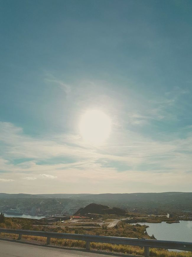 A nice day for a hike. Hanging Out Relaxing Summertime In Newfoundland Hike Signal Hill St. John's, NL Canada East Coast Of Canada Sun Drenched Sky City Samsung S7 Edge