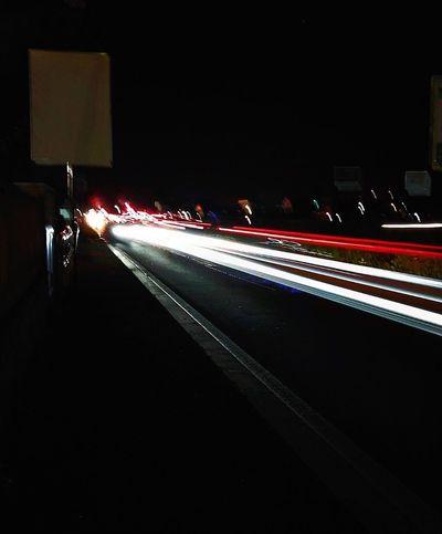 Capturing Motion Night Road Traffic
