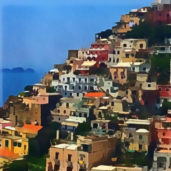 Artistic Positano along the Amalfi Coast Eye On Travel No People City Day Town Cityscape