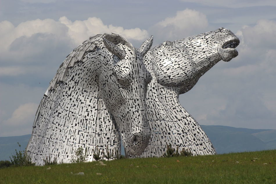 Animal Themes Cloud - Sky Day Kelpies Of Falkirk Nature No People Outdoors Sky
