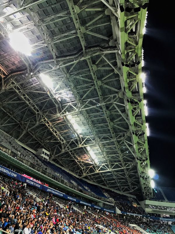 Illuminated Night Stadium Large Group Of People Indoors  Crowd Architecture Arts Culture And Entertainment Audience Built Structure People