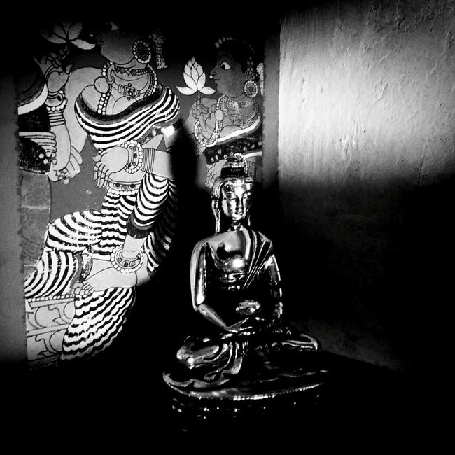 Buddha Noir Indoors  Art Indoors  Art Art And Craft Creativity Close-up Representation Memories History Modern Gilded Workspace Seeing Things Hometown Noir Place Of Worship Buddha No People