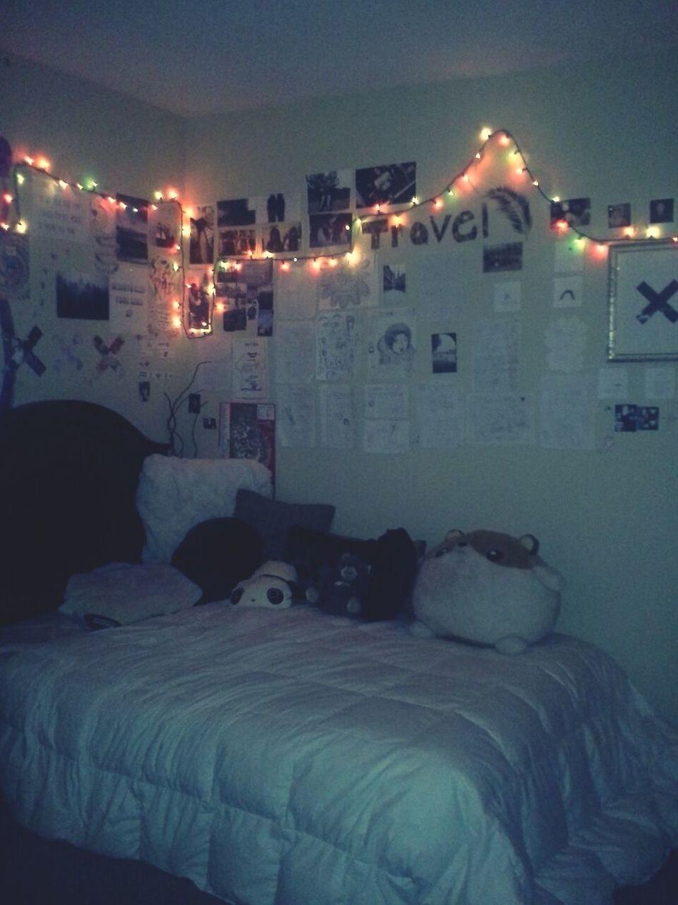My Bedroom Tumblr Tumblr Room Fairy Lights