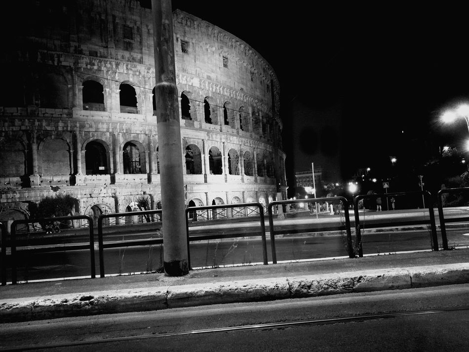 Architecture Tourism Built Structure Travel Destinations Travel Illuminated History City Night No People Outdoors Sky Coloseum Colosseo Coliseum Rome, Italy Roma Eternal City Romebynight