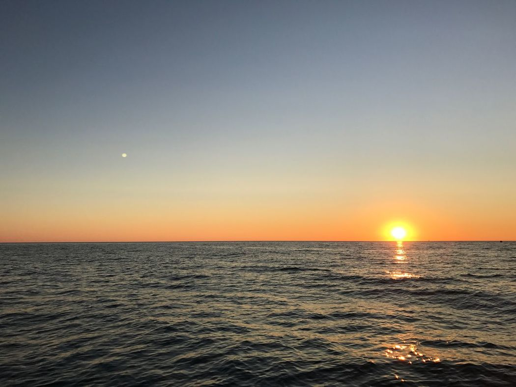 Breathing Space Travel Destinations No People Beauty In Nature Water Cloud - Sky Sky Scenics Vacations Sunset Sun Moon Sun And Moon Sun And Sea Michigan Lake Michigan Pentwater, MI Paint The Town Yellow