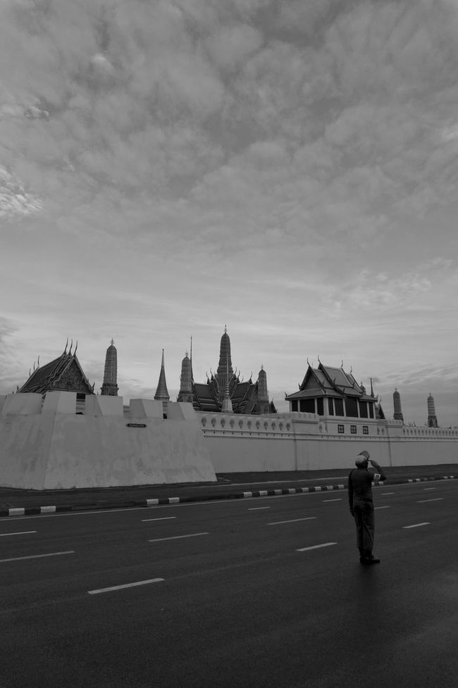 Adult Architecture Black And White City Day Full Length Grand Palace Bangkok Thailand Guard King Bhumipol Adulyadet One Person Only Men Outdoors People Person Police Road Sky Travel Destinations Vertical