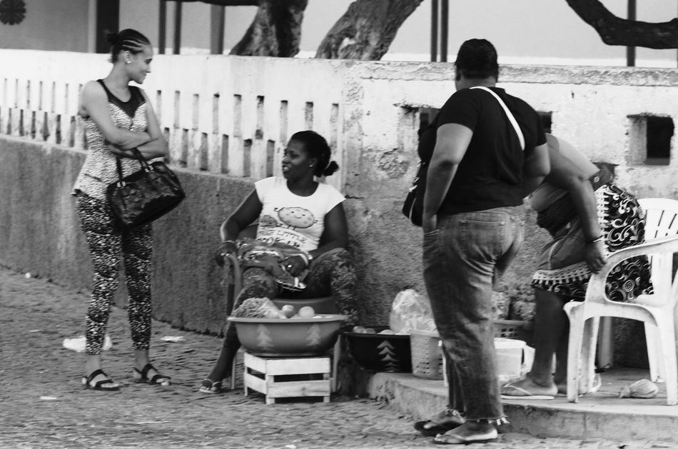 Building Exterior Capo Verde Day Full Length Market Stall Outdoors Real People Sal Island Santa Maria Standing Street Photography Summer 2015 Talking Togetherness Women