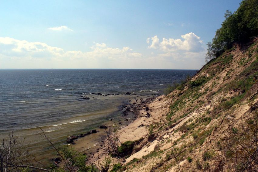 Germany, Island Vilm near Rügen Baltic Sea Beach Beauty In Nature Coast Coastline Day Horizon Over Water Nature No People Outdoors Sand Scenics Sea Sky Tranquil Scene Tranquility Vilm Water Waves