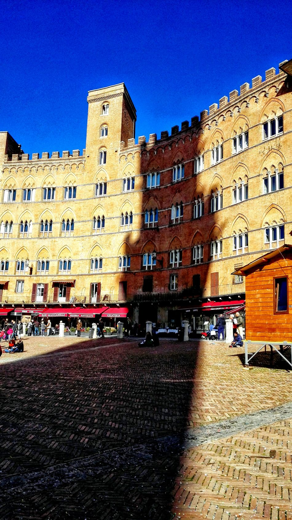 Siena, Italy Siena Tuscany Torre Del Mangia Shadow Piazza Del Campo Febrary Building Exterior Architecture City Travel Destinations Town Square Built Structure Outdoors Day Sky No People Clock Tower The City Light EyeEmNewHere