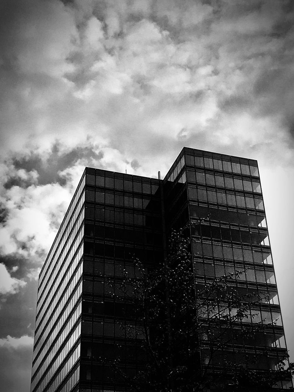 Architecture Building Exterior Built Structure Low Angle View Sky Cloud - Sky Day Skyscraper No People Outdoors City Modern Landscape Art Is Everywhere Outdoor Photography Monochrome Photography City The Way Forward