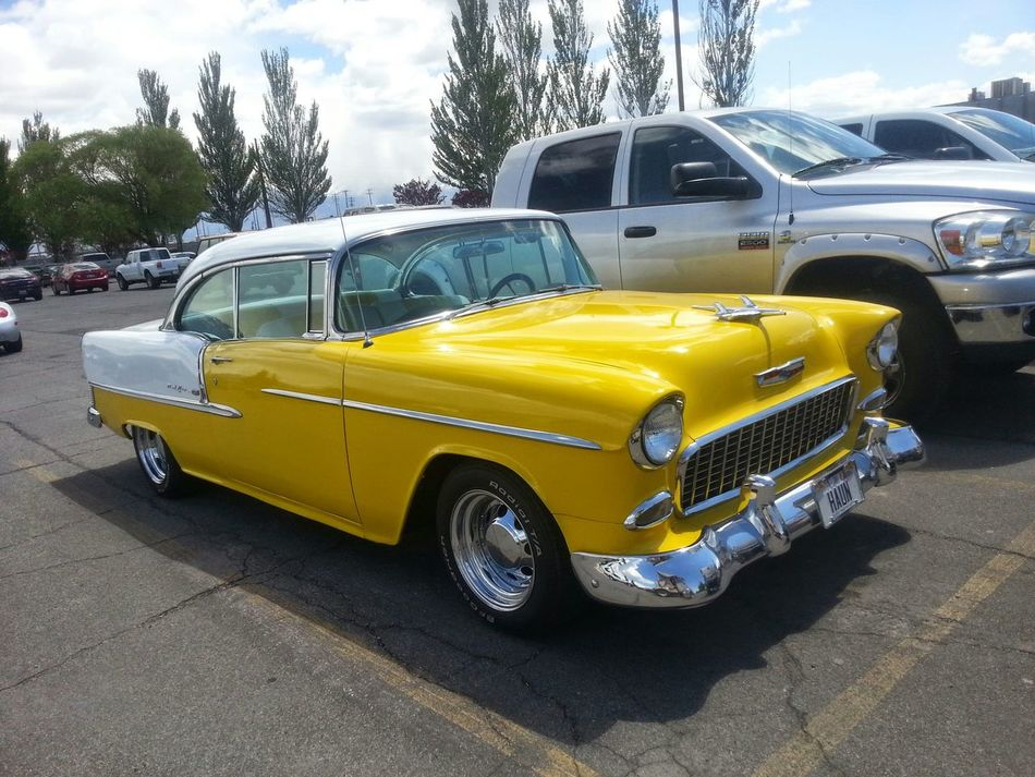 Something Yellow Customs Beautiful Day Chevrolet Classic Car Classic Beauty Vintage Cars Bell Air