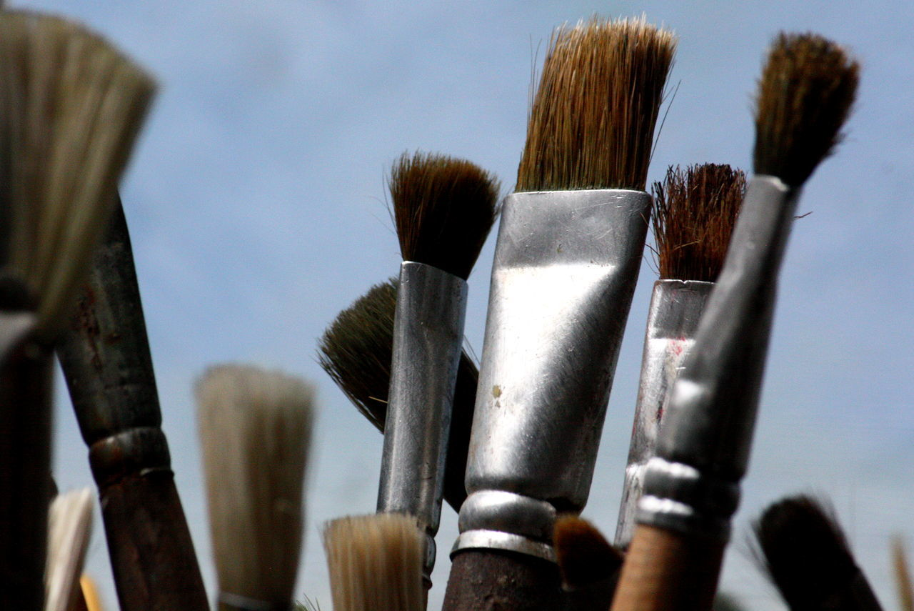 Art And Craft Art, Drawing, Creativity Brush Brushes Close-up Painting Selective Focus Still Life Still Life Photography