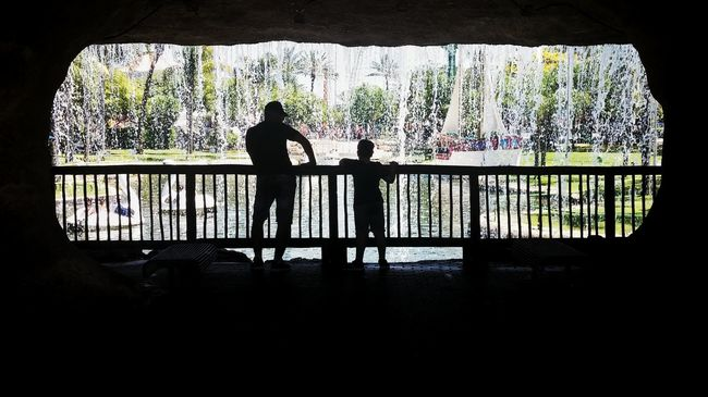 Fatherhood Moments Outdoors Casual Clothing EyeEm Vacations Tourism Window Railing Silhouette Full Length Nature Day Tranquility Vacations WoodLand LGG3 LGg3photography Lgg3shot