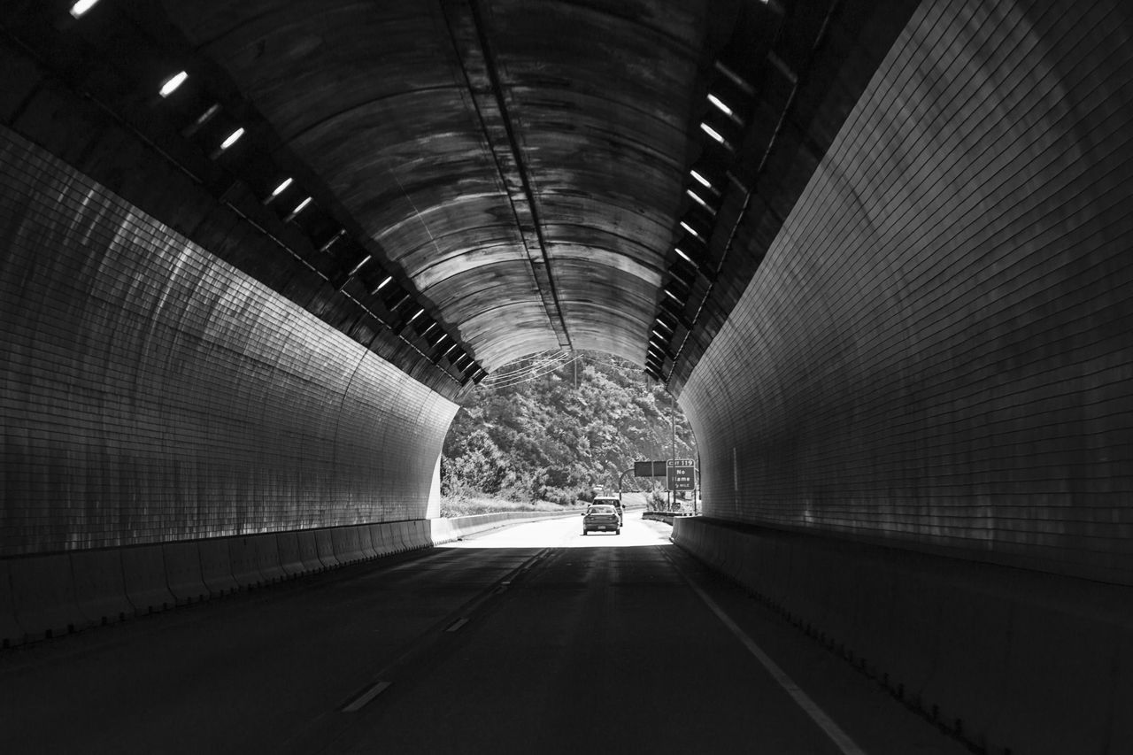 Adventure Architecture Black And White Blackandwhite Built Structure Car City Illuminated Indoors  Life Living Bold Monochrome Night No People Drive The Way Forward Travel Tunnel Vacations