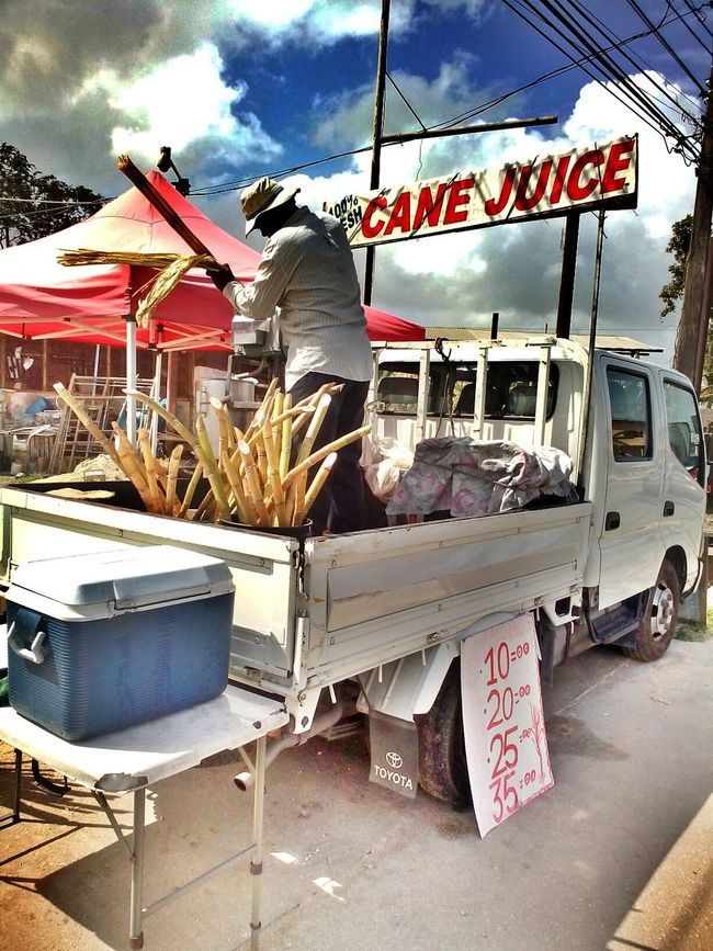 Sugarcane juice Sugarcanejuice Sugarcanepress Vendor's Cart Vendors On Wheels Trinidad And Tobago