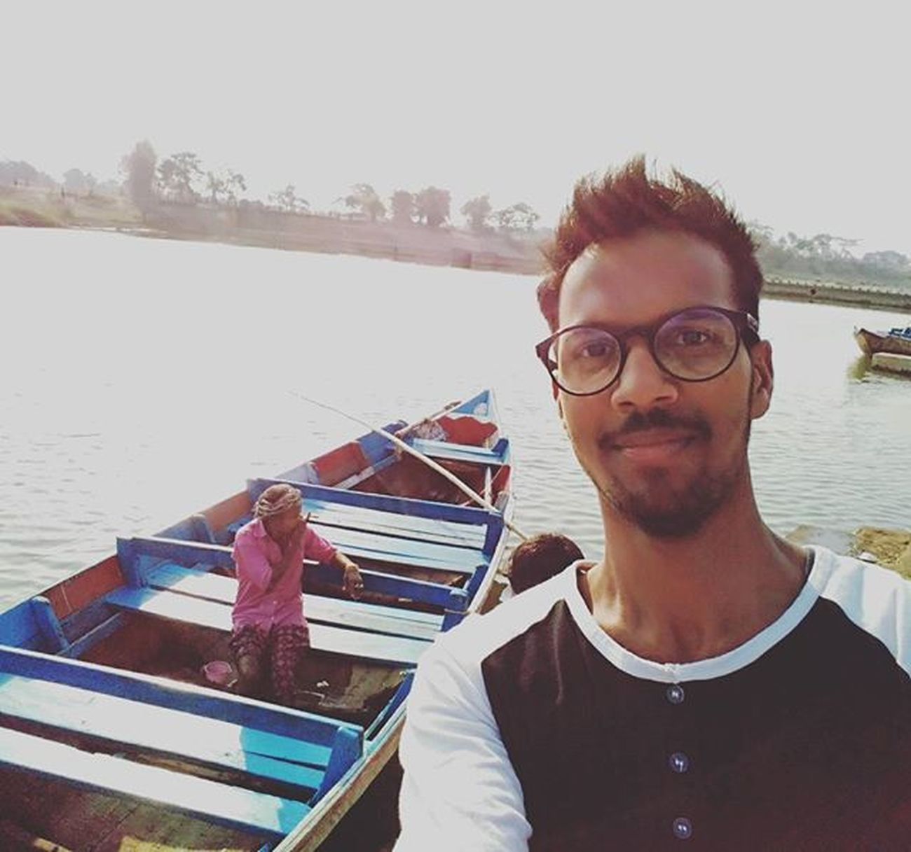 6. Talagaun . . . . A man resting in the boat ..Selfie with the boatsman...😀 Cool Selfination River Boat Scenery Talagaun Bilaspur Chhattisgarh Photography Indiaclicks Indian _soi Architecture Historicalplace History Ancient Phonography  Asus Pixelmastercamera Myself Me Instagood Followme