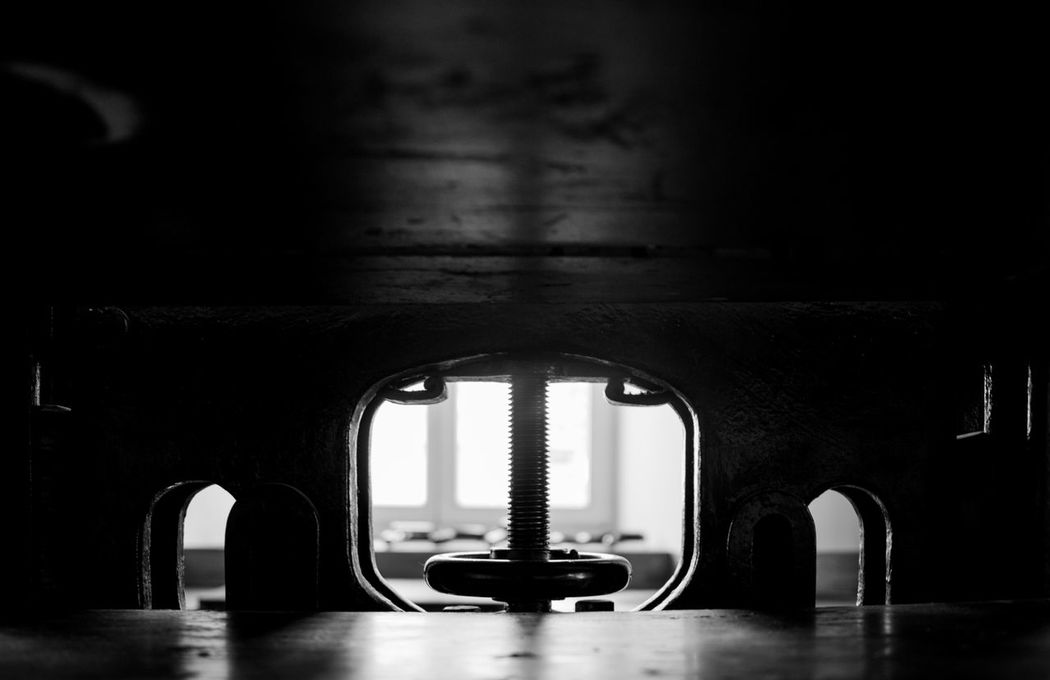 Streetphoto_bw Shadows & Lights Urbex Street Photography City Life Lithography Workshop Urban Metal Metallic Press Metal Object Close-up EyeEm Best Shots - Black + White Canon Open Edit Urban Exploration Printing Press Photography Taking Photos