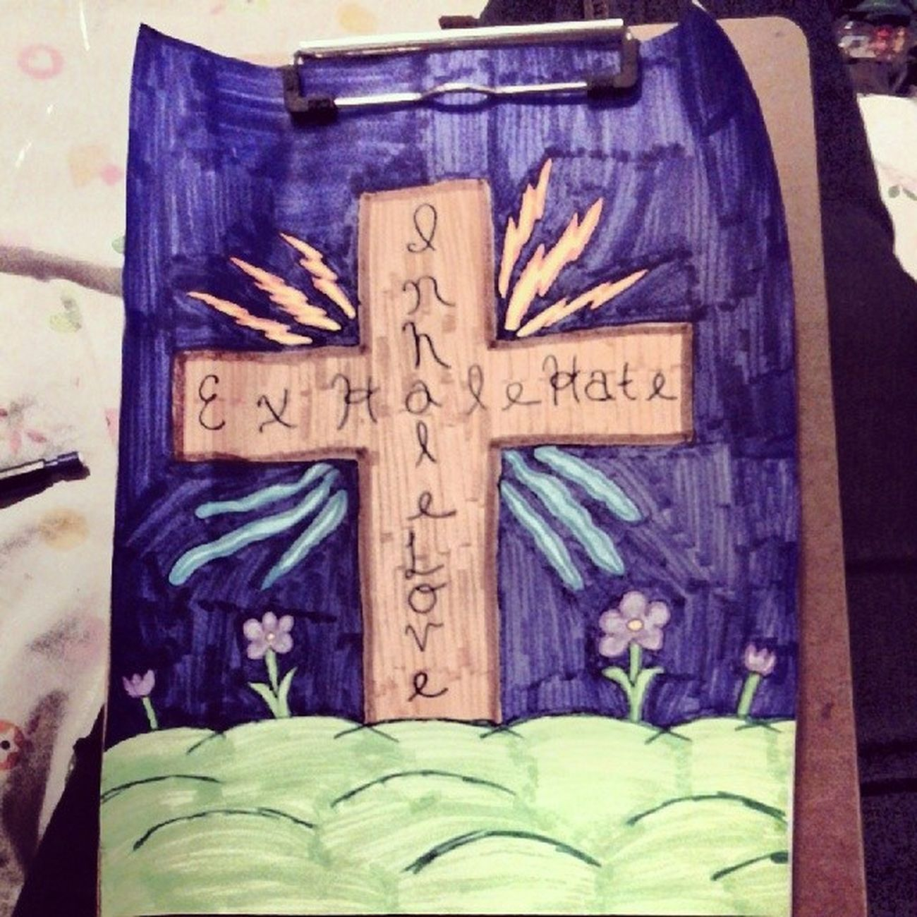 All finished! Finishedproduct Awesome Artsy Godrules cross