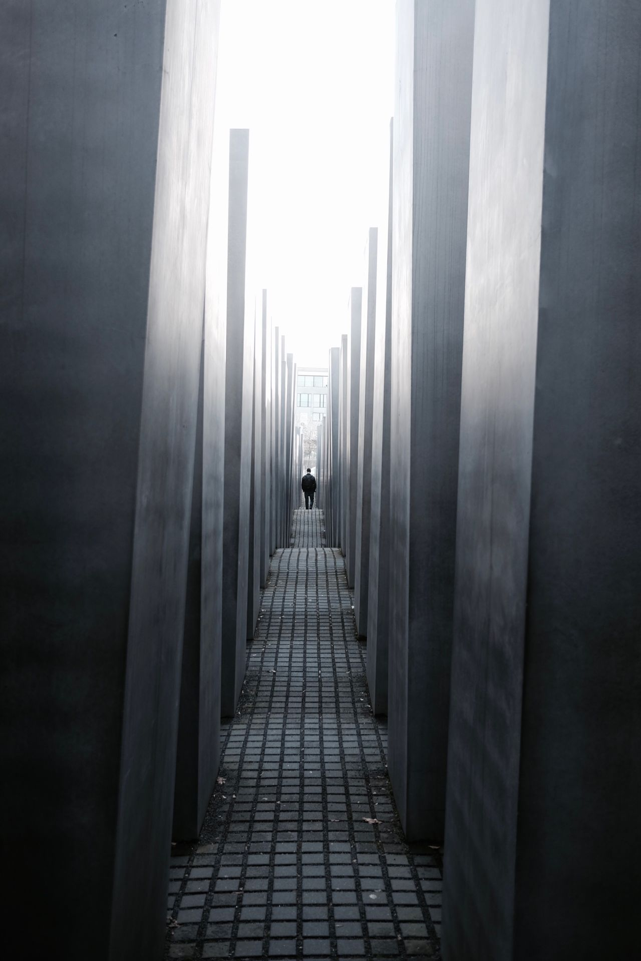 The Way Forward Indoors  Architecture Real People Day Holocaust Memorial Berlin Design Memorial War Memorial Architecture Man Silhouette