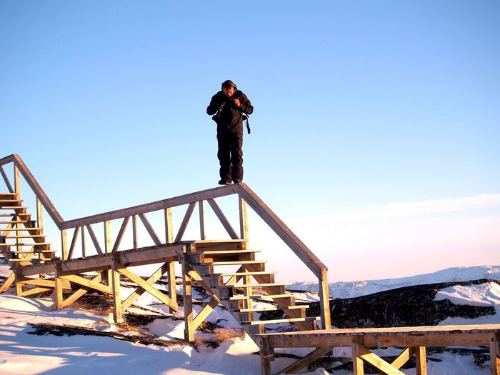 Snow Check This Out ThatsMe Selfportrait Nature Beautiful Nature Stairs Eye Em Nature Lover Stairs_collection The Real Greenland