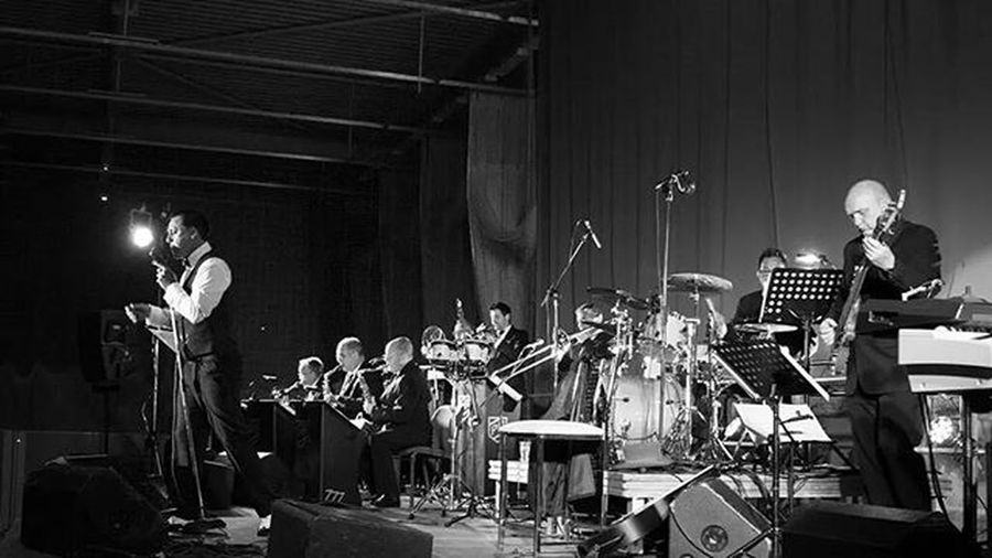 Recent photoshoot. Cinematic Photography Blackandwhite Concert Singer  Swingtime Crooner Merthyr Bigband