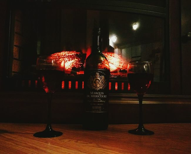 Wine Red Wine Wineglass Night