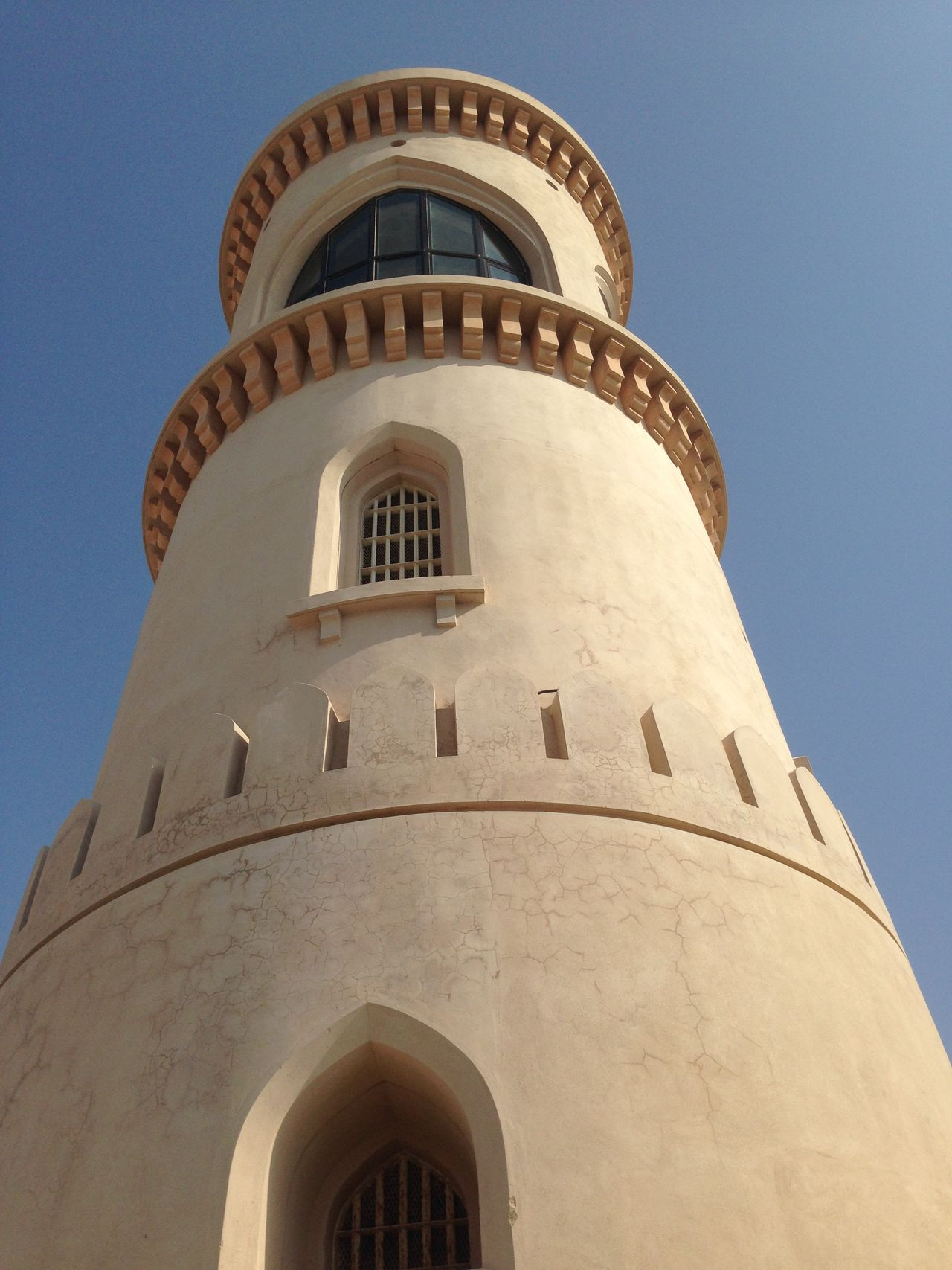 Architecture Building Exterior Built Structure Clear Sky Day Lighthouse Low Angle View No People Oman Outdoors Sky Surface Level Tower Şūr