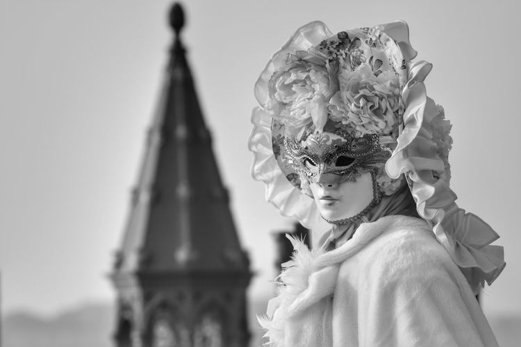 Architecture Adults Only Adult People Indoors  One Person Close-up Day Venetian Mask Stage Make-up Mask - Disguise Arts Culture And Entertainment Period Costume 2017 Carnival Venice Italy Mask Carnival Crowds And Details Streetphotography Blackandwhite Fashion Stage Costume Lifestyles